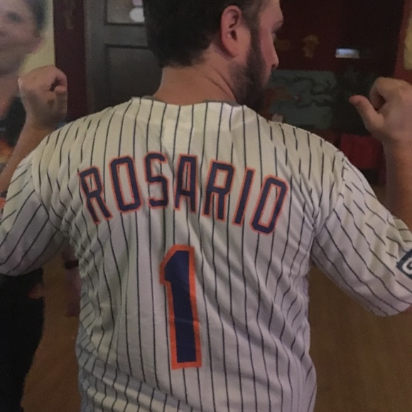 new concept 38ab1 5cc3c Amed Rosario Mets Giveaway Jersey